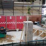 Cantiere dei lavori sospesi al Belvedere di Santa Maria (Piazza del Duomo)