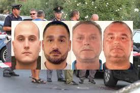 I 4 presunti autori del delitto Marino. Da sinistra verso destra: Arcangelo Abbinante, Giuseppe Montanera, Salvatore Ciotola e Carmine Rovai