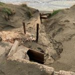 Spiaggia devastata a Sabaudia
