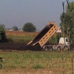 Uno dei terreni sequestrati dopo la chiusura dell'impianto di compostaggio Sep.