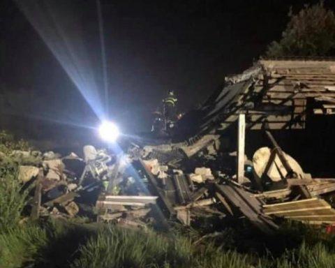 L'esplosione in Via Manzoni, San Felice Circeo (foto da Lazio Tv)