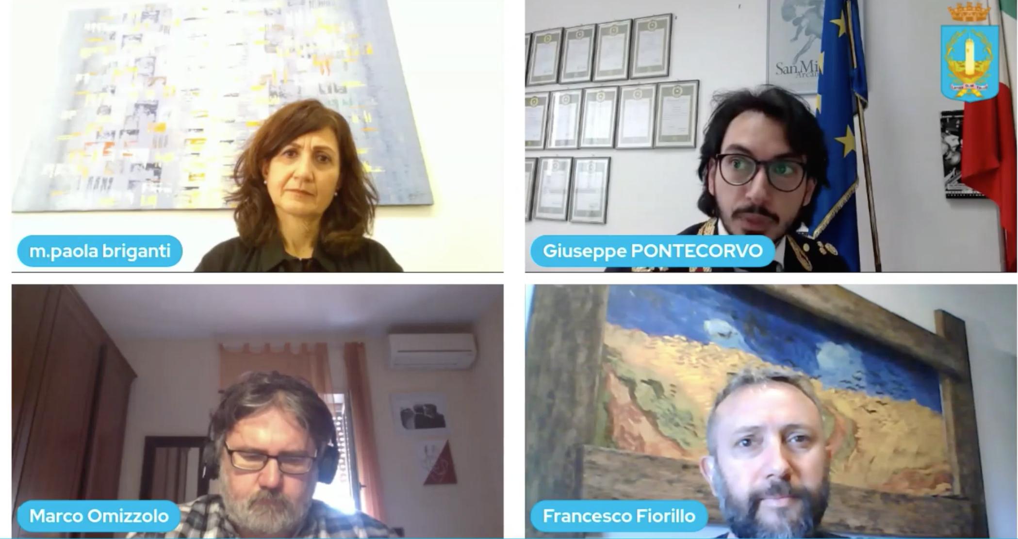 L'incontro online organizzato dal Comune di Latina