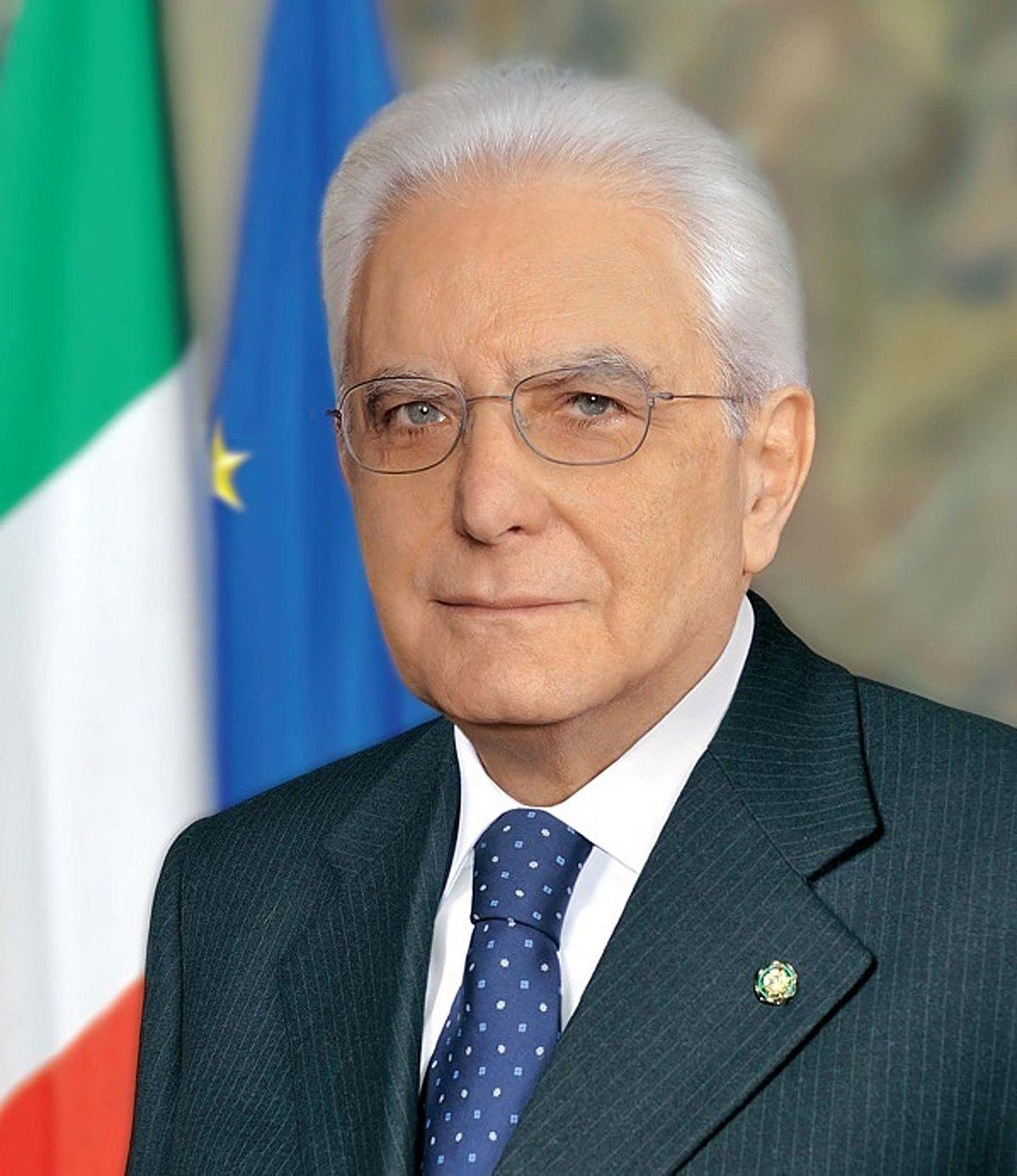 Presidente della Repubblica Sergio Mattarella