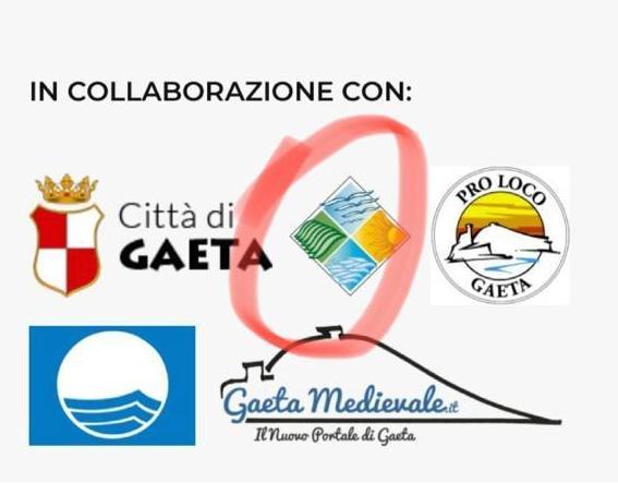 I loghi presenti sul sito di Visit Gaeta. Cerchiato in rosso il logo dell'Ente Parco Riviera di Ulisse