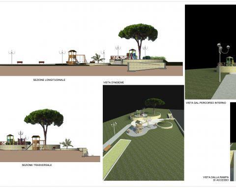 Il progetto del parco attrezzato davanti ai lotti 46 e 47