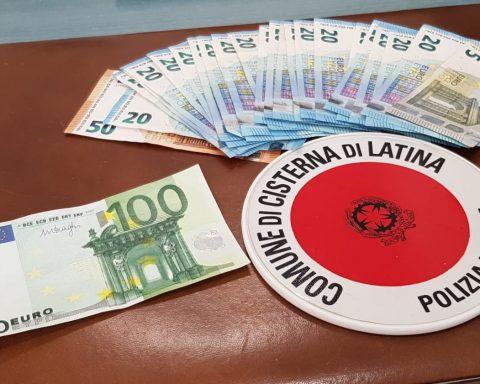 Banconote false sequestrate dalla Polizia Locale di Cisterna di Latina