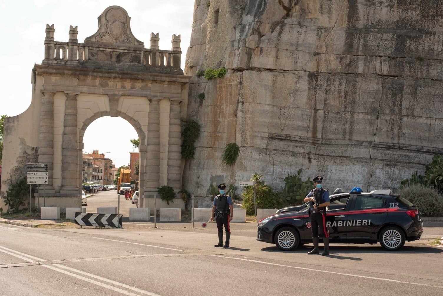 Posto di controllo dei Carabinieri di Terracina