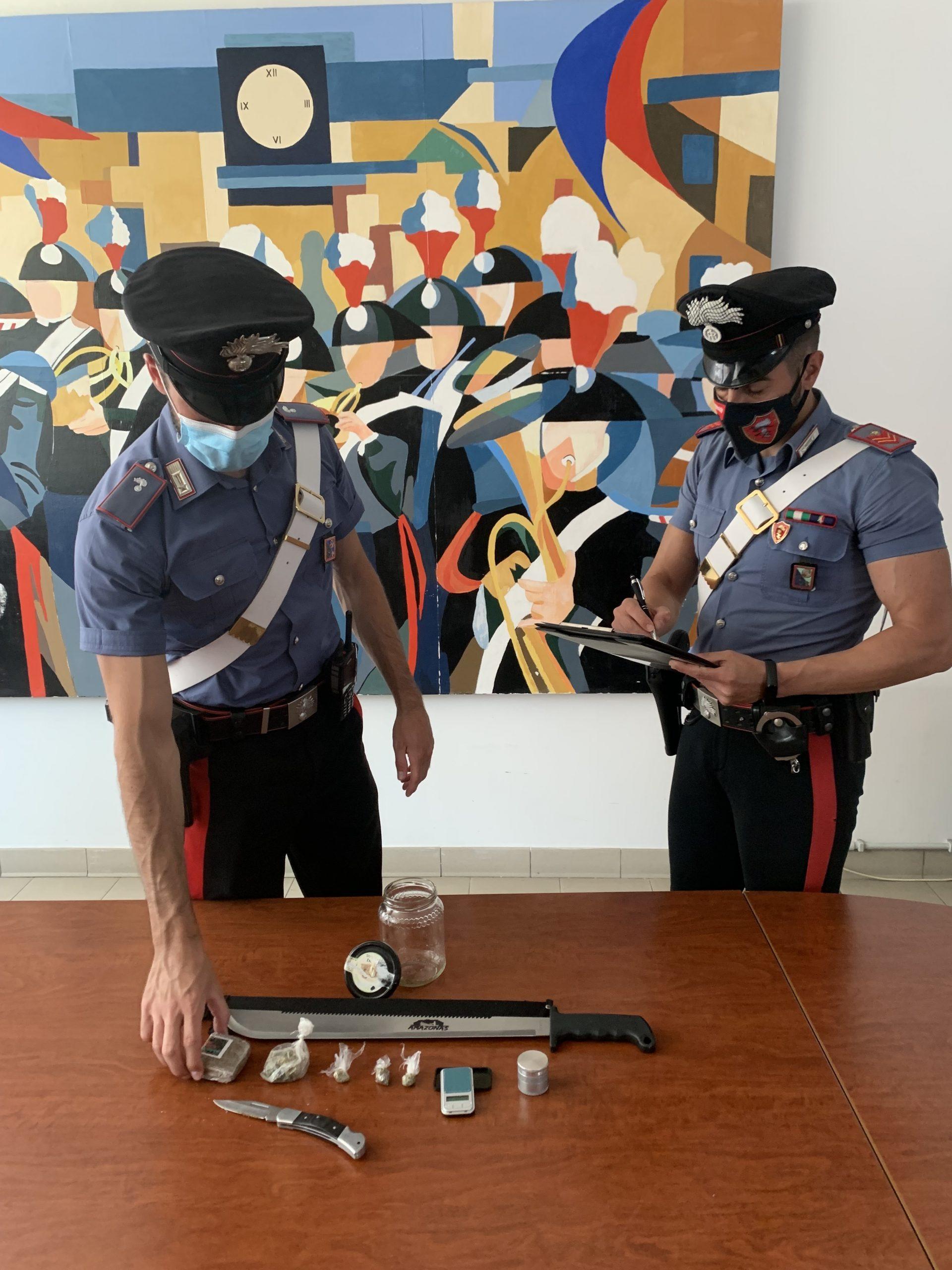 Sostanze stupefacenti, armi e materiale sequestrato