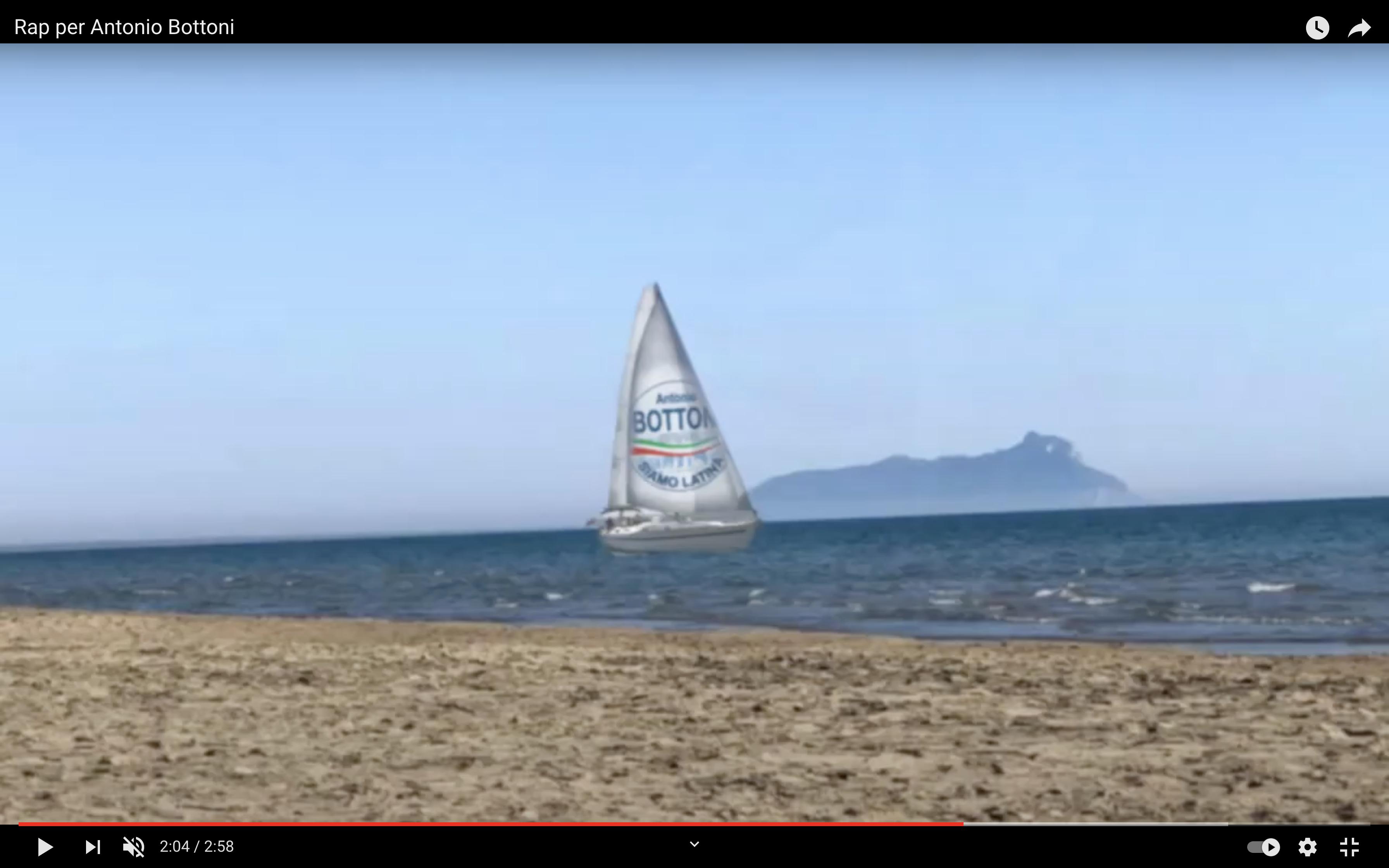 Un frame del video rap promozionale di Antonio Bottoni