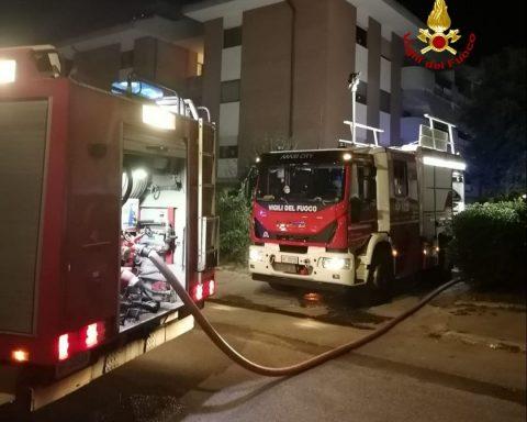 L'incendio in Via Sgambati