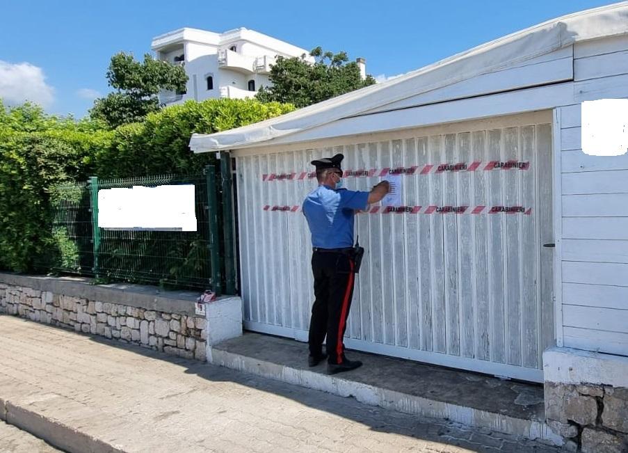 Carabinieri del Comando Stazione di Formia sul posto