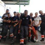 I volontari della Protezione Civile nella foto pubblicata da Paola Villa