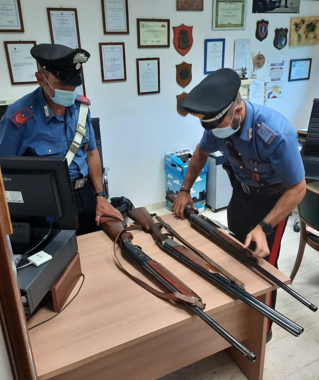 Armi sequestrate in Sezze