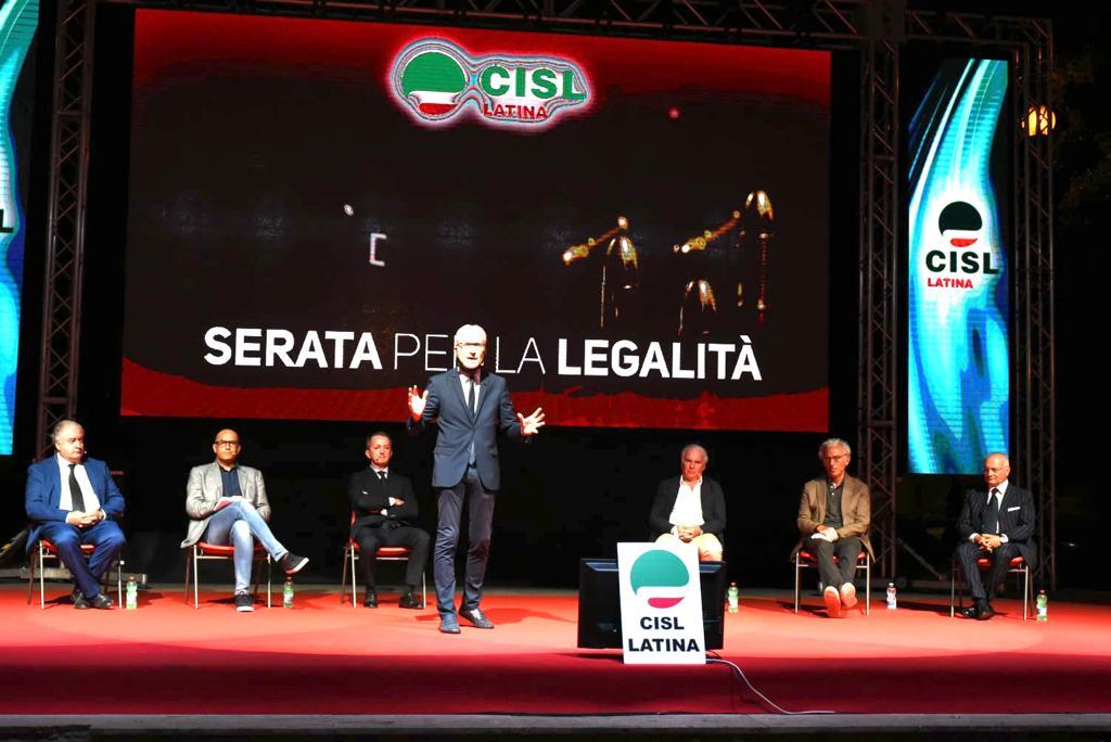 La precedente serata della legalità organozzata dalla Cisl
