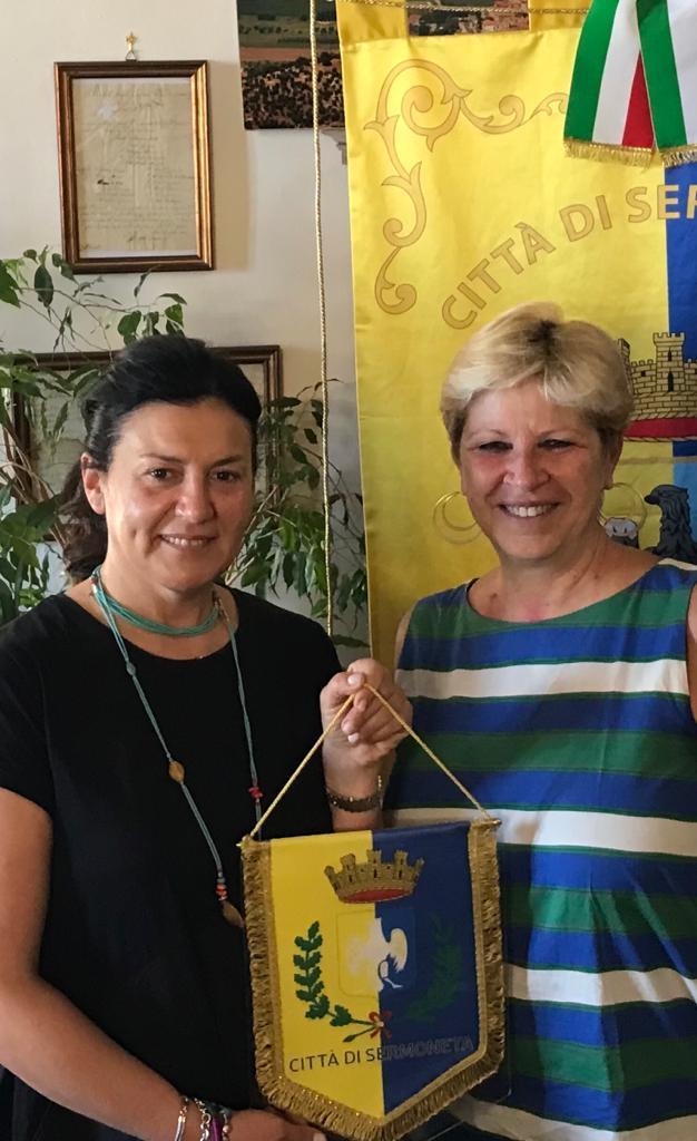 Nella foto- il sindaco Giuseppina Giovannoli e il presidente della fondazione Campus Elisa Cerocchi
