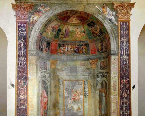 Nella foto- la cappella Caetani affrescata da Girolamo Siciolante all'interno della chiesa di San Giuseppe di Sermoneta