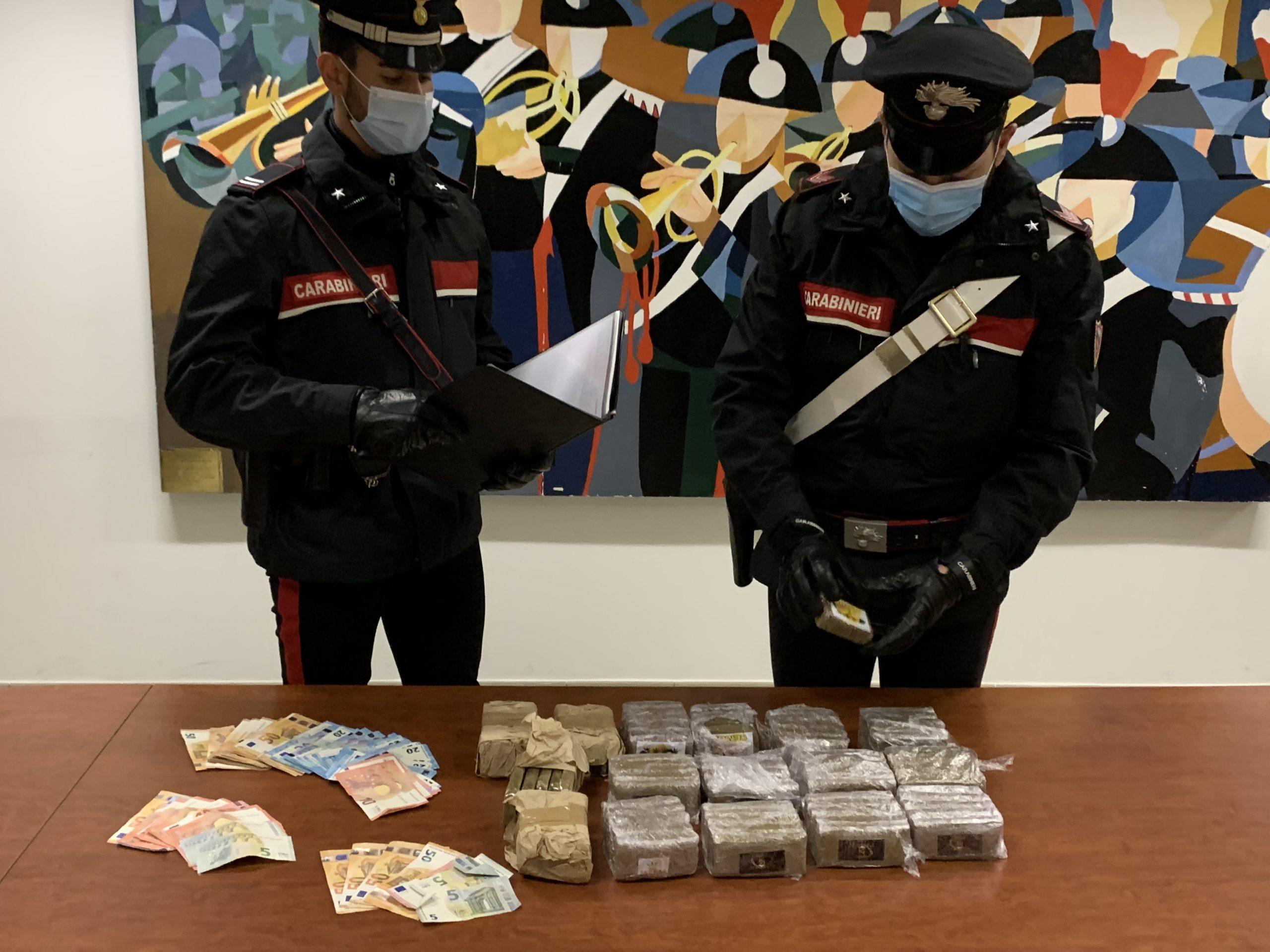 Il sequestro operato dai carabinieri di aprilia il 25 febbraio 2021