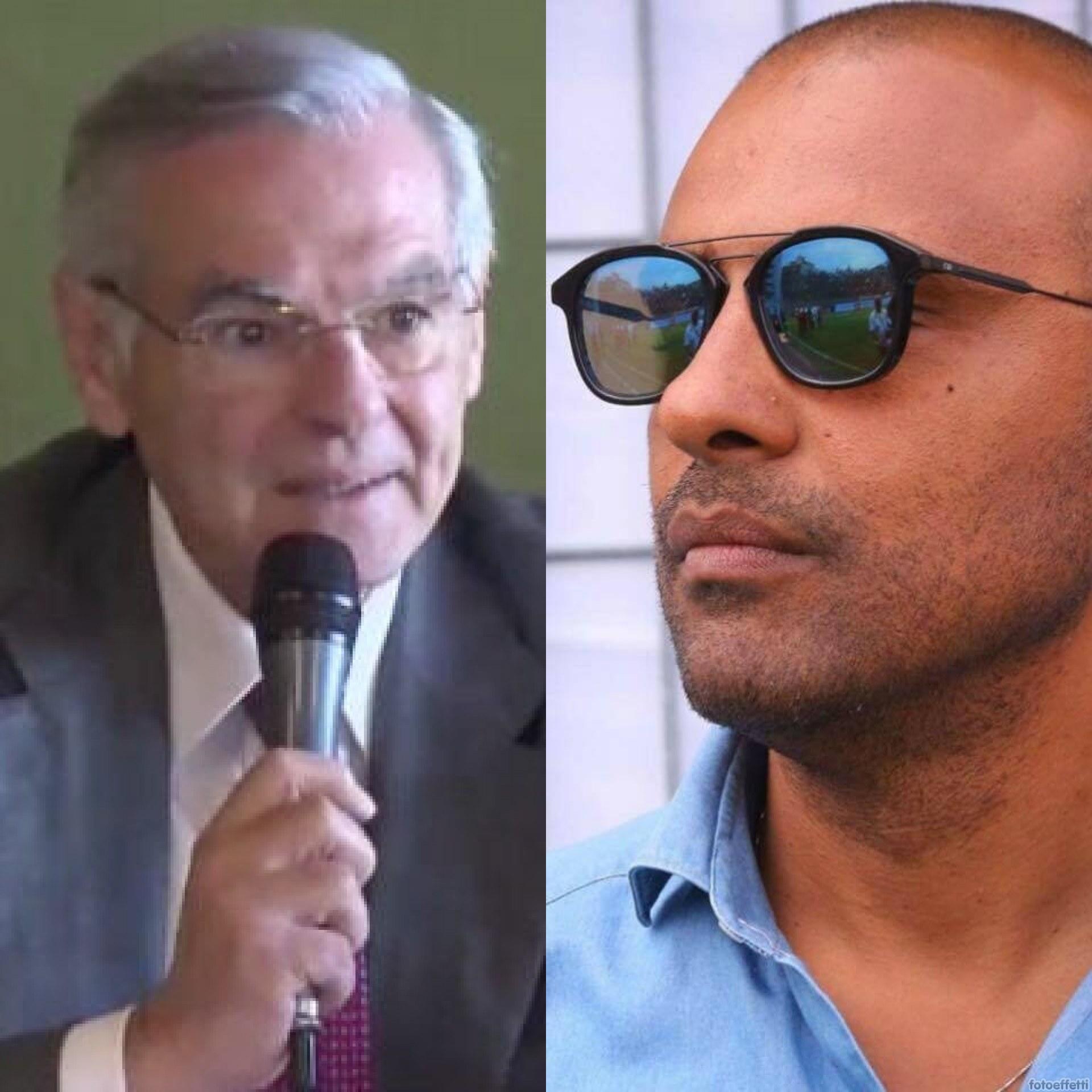 Vincenzo Zaccheo candidato Sindaco di Latina per il centro destra e Pasquale Maietta ex deputato di Fratelli d'Italia ed ex Presidente del Latina Calcio