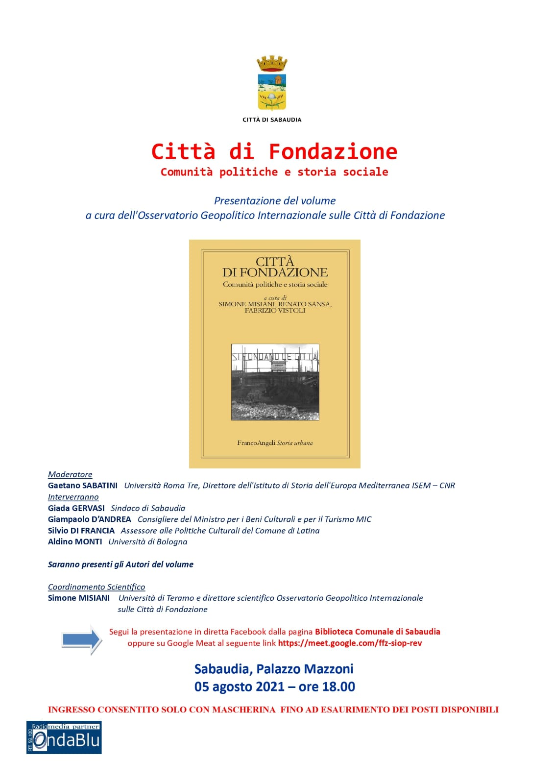 locandina Città di Fondazione