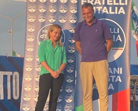 Giorgia Meloni e Andrea Marchiella