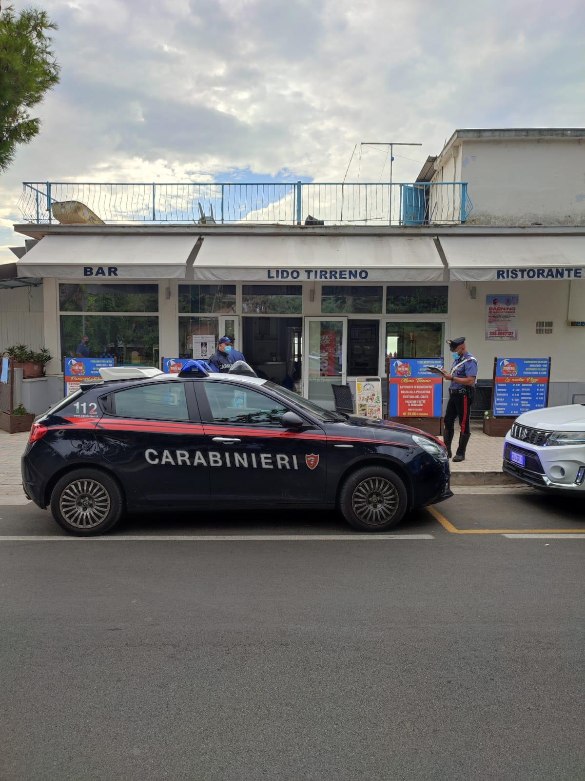sopralluogo dei carabinieri di formia sul posto della rapina