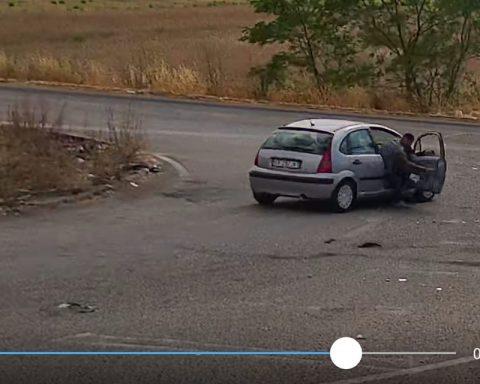 Il frame del video pubblicato dal Comune di Pontinia sulla sua pagina Facebook