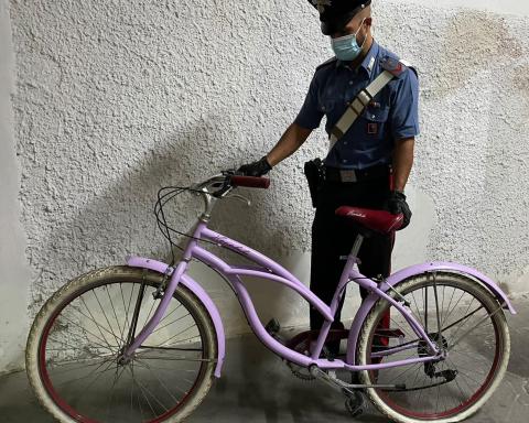 Bicicletta sequestrata