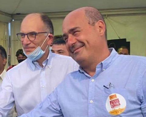 Enrico Letta e Nicola Zingaretti